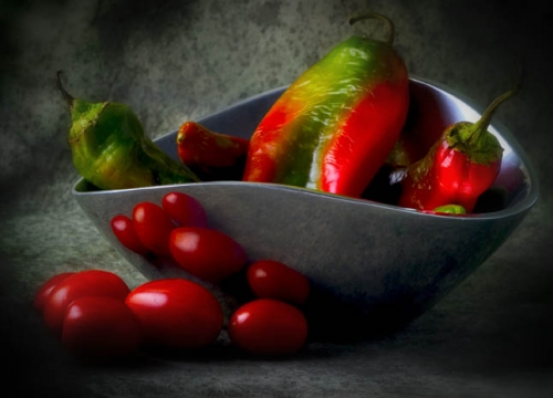 Chilies and Cherry Tomatoes